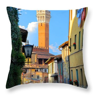 Siena Streets Throw Pillow by Inge Johnsson