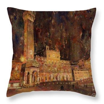 Siena Sunset Throw Pillow by Ryan Fox