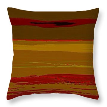 Throw Pillow featuring the digital art Sienna Vista by Anthony Fishburne