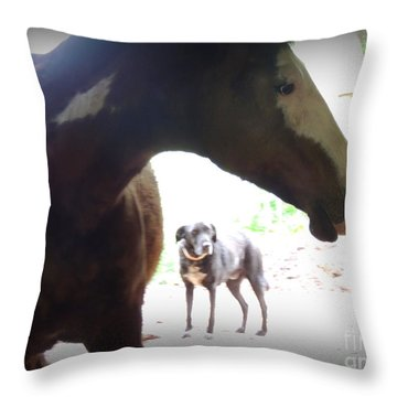Sierra And Cody In The Mist Throw Pillow