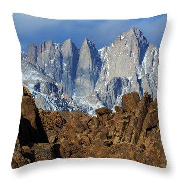 Sierra Nevada California Throw Pillow by Bob Christopher