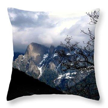 Sierra Nevada Snowy View Throw Pillow by Matt Harang