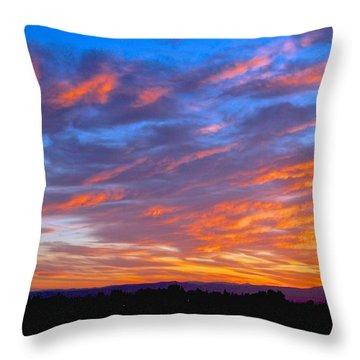 Sierra Nevada Sunrise Throw Pillow