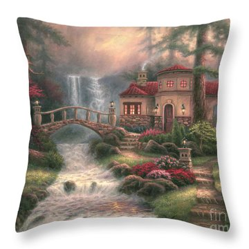 Sierra River Falls Throw Pillow