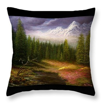 Sierra Spring Storm Throw Pillow