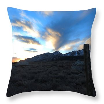 Sierra Sunrise Throw Pillow by Paul Foutz