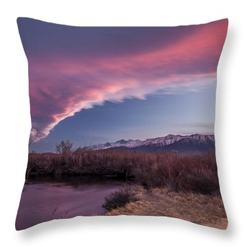 Sierra Wave And Lower Owens Throw Pillow by Cat Connor