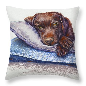 Throw Pillow featuring the painting Siesta by Cynthia House