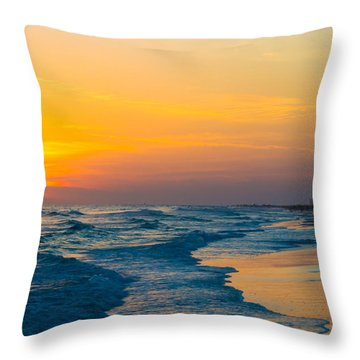 Siesta Key Sunset Walk Throw Pillow