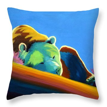 Throw Pillow featuring the painting Siesta Time by Nancy Jolley