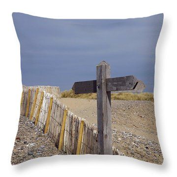 Sign Post To Nowhere Throw Pillow by Christopher Rowlands