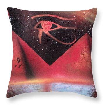 Wadjet Throw Pillows