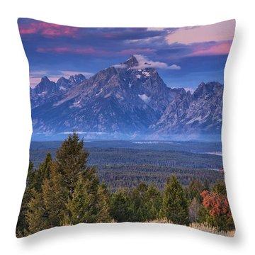 Signal Mountain Sunrise Throw Pillow by Mark Kiver
