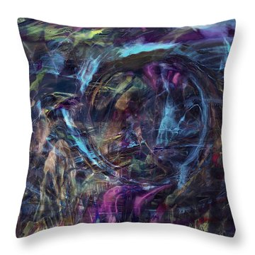Signal To Noise Throw Pillow by Linda Sannuti