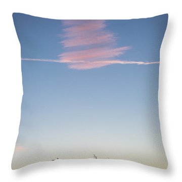 Signing In Heaven Throw Pillow