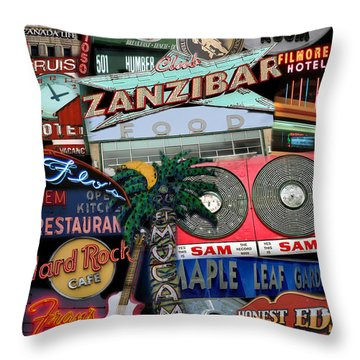 Signs 1c Throw Pillow by Andrew Fare