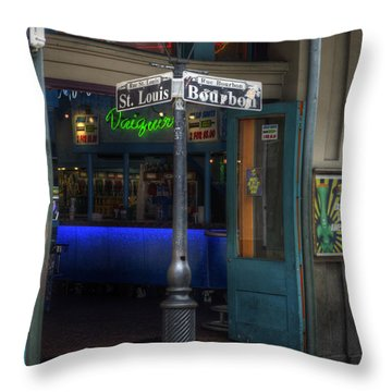 Signs Of Bourbon Throw Pillow by Greg and Chrystal Mimbs