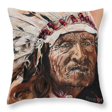 Signs Of His Times Throw Pillow by Annalise Kucan