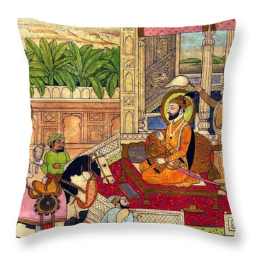 Sikh Guru Throw Pillow