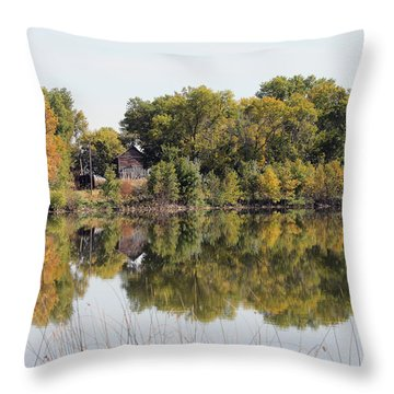 Silence And Solatuid  Throw Pillow by Lori Tordsen