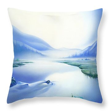 Silence Throw Pillow by Anna Ewa Miarczynska