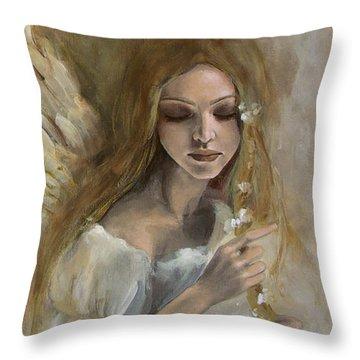 Silence Throw Pillow by Dorina  Costras