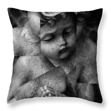 Silence Of A Seraphim  Throw Pillow by Jerry Cordeiro