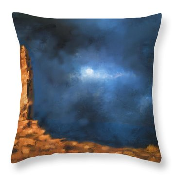 Silence Of The Night Throw Pillow