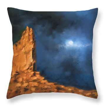 Throw Pillow featuring the painting Silence Of The Night by S G