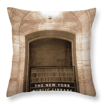 Silence Please Throw Pillow