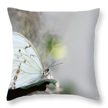 Silent Beauty Throw Pillow