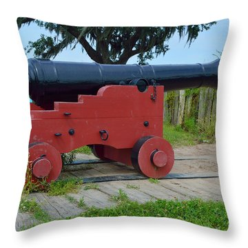 Silent Cannon Throw Pillow by Alys Caviness-Gober