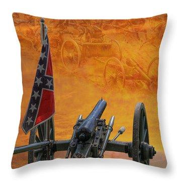 Silent Fields Of Gettysburg Throw Pillow
