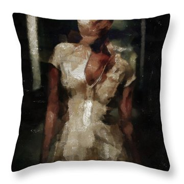Silent Hill Nurse Throw Pillow by Joe Misrasi