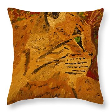 Silent Hunter Throw Pillow by Harold Greer