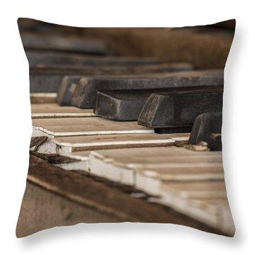Silent Keys Throw Pillow