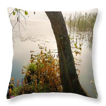 Silent Lakeside Throw Pillow