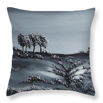 Silent Meadow Throw Pillow