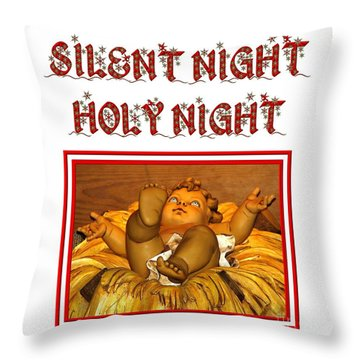 Silent Night Holy Night Throw Pillow by Rose Santuci-Sofranko