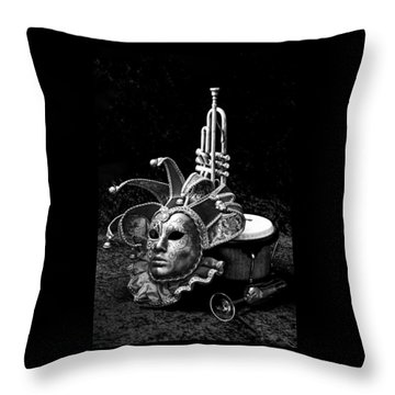 Throw Pillow featuring the photograph Silent Night In Venice by Elf Evans