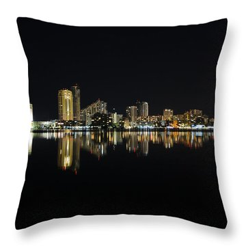 Silent Night Throw Pillow by Keith Armstrong