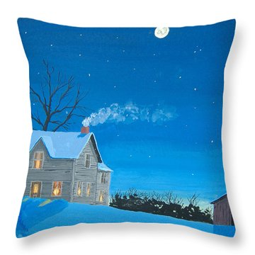 Silent Night Throw Pillow by Norm Starks