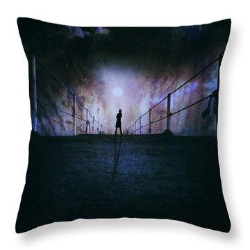 Silent Scream Throw Pillow by Stelios Kleanthous