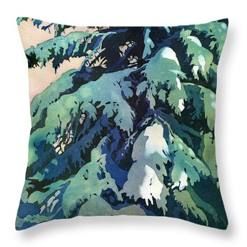 Silent Season Throw Pillow