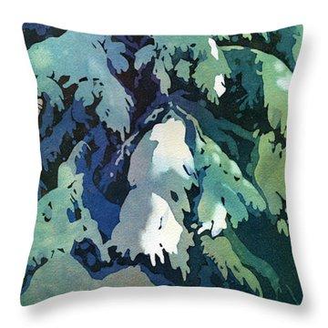 Pine Needles Throw Pillows
