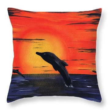 Silent Sun. Throw Pillow