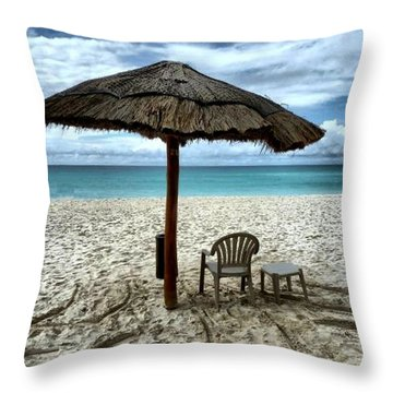 Silently Waiting Throw Pillow