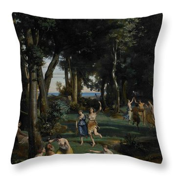 Silenus Throw Pillow by Jean Baptiste Camille Corot