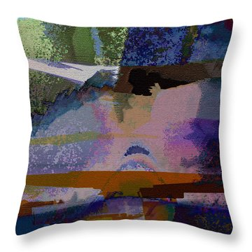 Throw Pillow featuring the photograph Silhouette And Shadows by David Pantuso