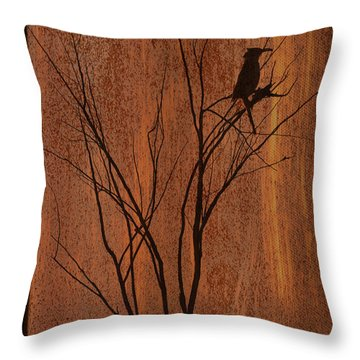 Throw Pillow featuring the photograph Silhouette by Barbara Manis